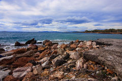 Sea an stones Royalty Free Stock Photos