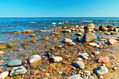 Sea and stones Royalty Free Stock Image