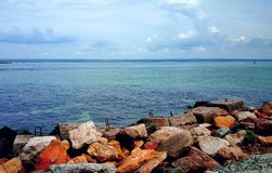 Sea stones. Stones are incredibly beautiful seascape Royalty Free Stock Photos