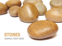 Sea stones isolated on white background Royalty Free Stock Photo