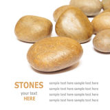 Sea stones isolated on white background Royalty Free Stock Images