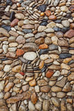 Sea stones pebble texture background Stock Images