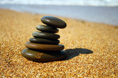 Sea stones and sea wave Royalty Free Stock Images