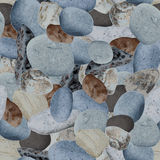 Sea stones seamless background Stock Photography