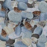 Sea stones seamless background. Grey sea stones seamless background. Vector illustration Stock Photography