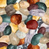 Sea stones seamless background. Vector illustration eps10 Stock Image