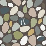 Sea stones seamless pattern Royalty Free Stock Photography