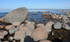 Sea, stones, sky Stock Photography