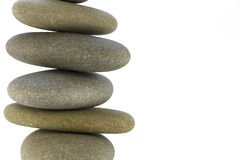 Sea stones stacked tower symbolizing balance Stock Photo