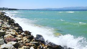 Sea and stones in summer. Holiday Royalty Free Stock Photos