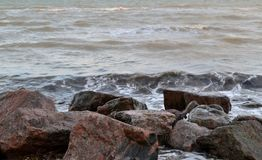 The sea and stones Stock Image