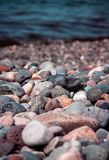 Sea stones in sunny day Royalty Free Stock Photos