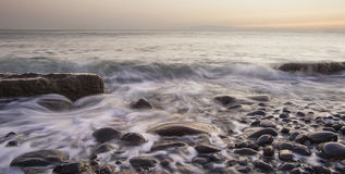 Sea Stones. Sea water moving thru stones Royalty Free Stock Images
