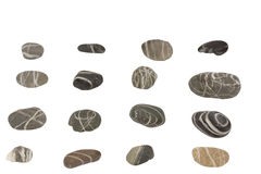 Sea stones on a white background Royalty Free Stock Image