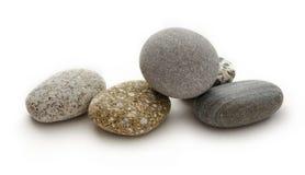 Sea stones on white background Royalty Free Stock Image
