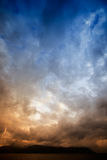 Sea Storm. A brewing storm on an ocean sunset Royalty Free Stock Photography