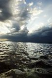Sea before the storm. Peaceful sea before a heavy storm Stock Images
