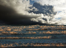 Sea storm Royalty Free Stock Images