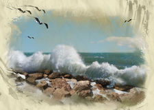 Sea storm abstract background Stock Photography