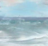 Sea storm. Computer graphics.computer drawing vector illustration