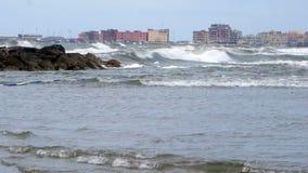 Sea Storm stock video footage