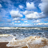 Sea storm. Royalty Free Stock Image