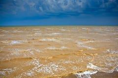 Sea storm. Sky clouda wave Royalty Free Stock Photography