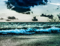 Sea storm with storm cloud and sky Royalty Free Stock Photography