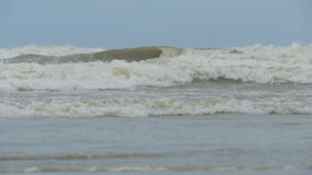 Sea during a storm. View from the shore. Slow motion stock footage