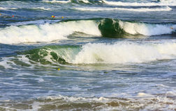 Sea storm and waves. Background. Royalty Free Stock Images