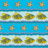 Sea striped pattern Stock Photography