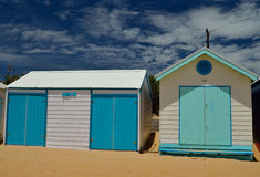 Sea style bathing boxes Royalty Free Stock Images
