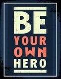 Sea su propio héroe ilustración del vector
