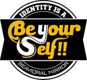 Sea su uno mismo ¡no se convierten los imitadores! gráfico stock de ilustración