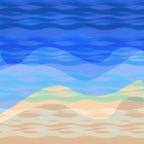 Sea, summer, beach, vacation background. Vector illustration. Stock Photography