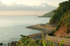 sea summer coast with railroad Stock Photos