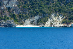 Sea summer coast view from ferry (Greece) Stock Photo