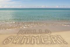 Sea Summer Hello Beach Resort Royalty Free Stock Photography