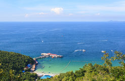 Sea in summer Koh Lan island from hill Stock Image