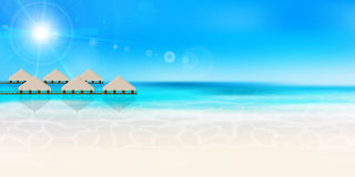 Sea summer landscape background Royalty Free Stock Image