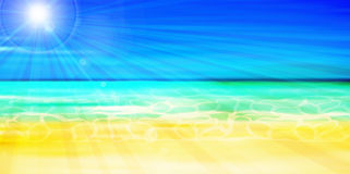 Sea summer landscape background Royalty Free Stock Photo