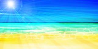 Sea summer landscape background Royalty Free Stock Photo