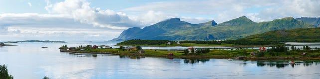 Sea summer panorama (Norway, Lofoten). Stock Photo