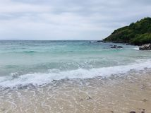 The sea during a summer time in Thailand, at Koh Lan Island, Rayong. stock photos