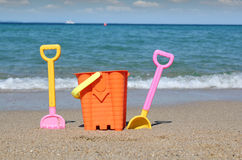 Sea summer vacation scene Stock Photography