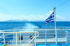 Sea summer view from ferry (Greece) Stock Image