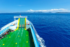 Sea summer view from ferry (Greece) Royalty Free Stock Image