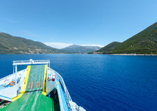 Sea summer view from ferry (Greece) Stock Photo