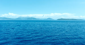 Sea summer view from ferry (Greece) Stock Images