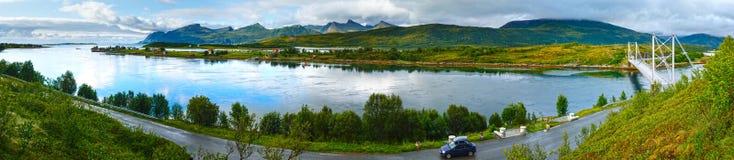 Sea summer view (Norway, Lofoten). Panorama. Royalty Free Stock Photos